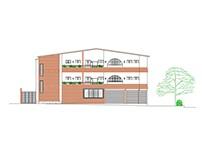 Edif. de uso mixto vivienda - comercio