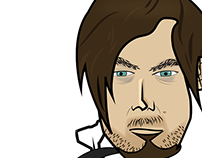 Ilustración Daryl - Personaje The Walking Dead