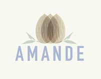 AMANDE Leche de Almendras Logo & Packaging