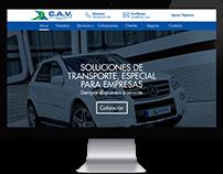 Diseño Web, transportes ejecutivos