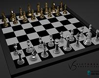 Tabuleiro de Xadrez 3D Chessboard 3D
