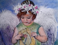 angels painted in watercolor
