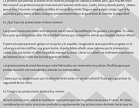 Descripción categoría protecciones motos Enduro