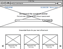 Wireframes - Catering Company