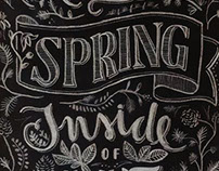 I have a spring inside of me - Lettering