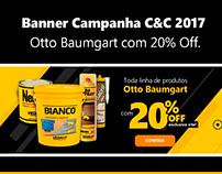 Banner Campanha C&C 2017 Otto Baumgart com 20% Off.