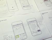 Simple UX Sketch for iOS App