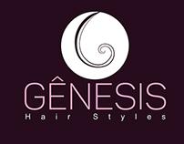 Criação e aplicação da marca - Gênesis Hair Styles