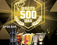 Flyer da Festa de 500 dias Direuti PUC-MG