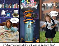 Genesis: Cover design of catalog offers