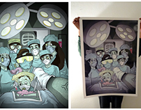 """""""Surgeon Family"""" - Print"""