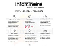Panfleto para empresa de informática