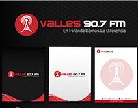 Valles 90.7 FM (Diseño de Logo e Identidad Gráfica)