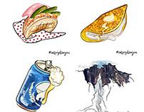 Venezuelan Food Doodles (ONE BY ONE)