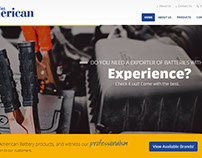 Sitio Web multilenguaje para American Battery Export