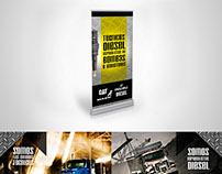 Diseños publicitarios para taller de tecnología Diésel.