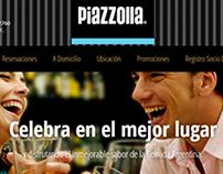 Página web Restaurante Piazzolla