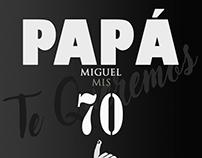 Papá 70 años