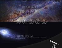 Astronomy Web concept
