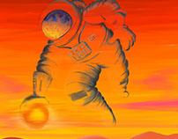 O Astronauta - Ilustração