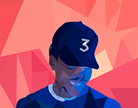 Chance the Rapper Lowpoly