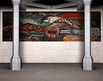 Sala de murales de la Suprema Corte de Justicia