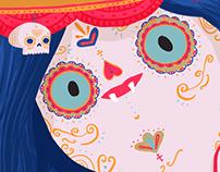 Ilustración Marceline / Día de los muertos