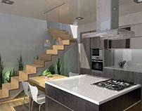 Renders interiores- vivienda unifamiliar