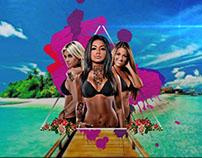 3 chicas en la playa