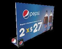 Copete Publicitario Cámaras Frías Pepsi