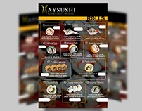 Afiche para Maysushi by me in Cinético.