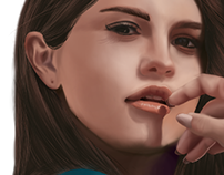 Ilustração Selena Gomez