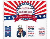 Arte para caixa de pizza - Pizza Americana