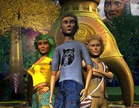 Imagenes de Corto animado en 3D vochi and the guardians