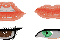Lips and Eyes - Pixel Art
