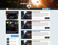 Emerald News Website Template