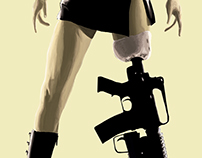 Planet Terror Ilustrated poster