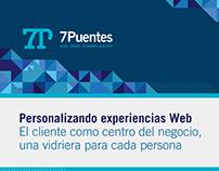 7Puentes, presentación de servicio customizado