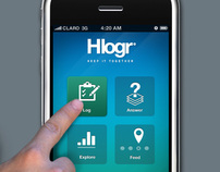 Hlogr app for iPhone