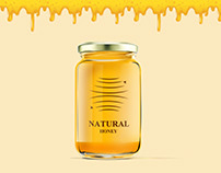 Natural honey, logo