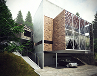 Render for house in Mexico DF