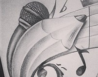 Dibujo Musica y Arte