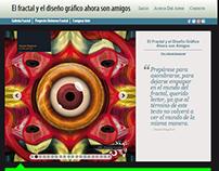 El fractal y el diseño gráfico: sitio web de libro