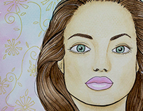 Angelina Jolie's Watercolour