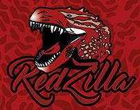Redzilla - Rótulo Cerveja Brazilla