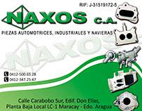 Portada Calendario y Tarjetas Marca Automotriz Naxos