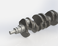 Crankshaft of a Hyundai Accent 2008 1.6L