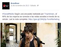 Los viajeros se conectan a internet con su celular