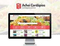 Achei Cardápios - Interface de usuário e design gráfico