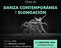 Flyer Danza Contemporánea